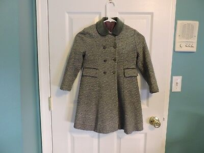 Girls Vintage 1950's Philadelphia Girl Wool Tweed Winter Coat ACWA Union Label