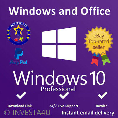 Windows 10 Pro Professional Key - W/scrap, Genuine, Lifetime Key 100% ORIGINAL