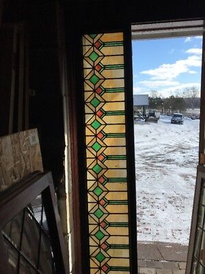 Sg 1800 Antique 1920S Deco Style Transom Window 16 X 18