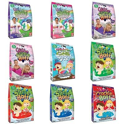 SLIME BAFF Blue Green Red Glitter Pink Purple-Crackle Baff -Gelli Baff Bath Play