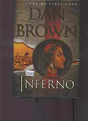 DAN BROWN wdob signed lstED INFERNO hardcover book