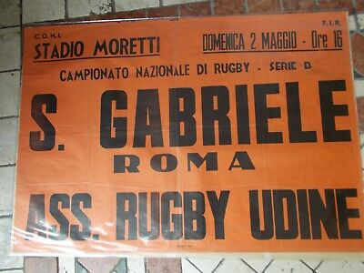 1950/59 Rugby-Udine-Stadio Moretti-S.gabriele Roma-Ass.rugby Udine-Serie D