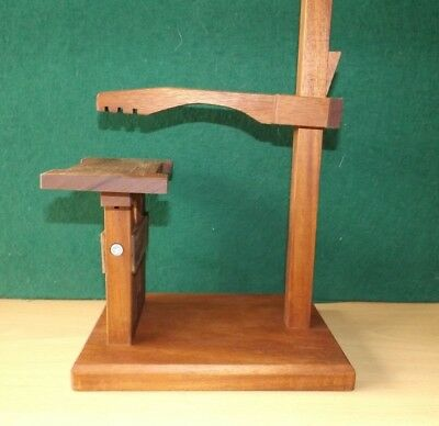 Heavy duty clock test stand large Fusse, wall, Westminster, and French movements