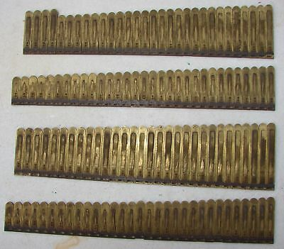122 Brass Reeds From Netzow Pump Organ Antique Used Parts Repair Crafts Upcylce