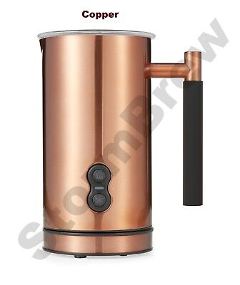 Copper Electric Milk Frother & Warmer / Foamer, Whisk, Latte & Cappuccino