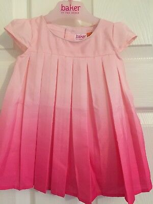 fcd3b6652d3e8 Baby Girls Ted Baker Pink Ombre Silk Effect Party Occassion Dress Age 3-6  Months