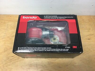 """NEW Bondo 3M PT405 6"""" Air Dual Action Speed Controlled Palm Sander FREE SHIPPING"""