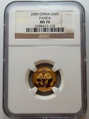 China, 2009 Gold Panda 50 Yuan - NGC Certified MS70 !!