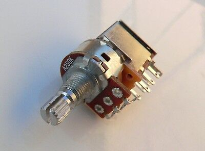 A250K switched short push pull pot for guitar tone/volume 250K log potentiometer