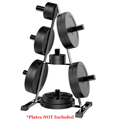 2  Olympic Weight Plate Rack Stand Tree Holder Storage Steel Home Gym Workout & WEIGHT PLATE HOLDER Rack Stand Standard Olympic Fitness Home Gym ...