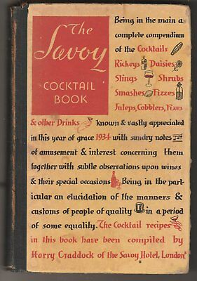 Savoy Cocktail Book, 1936 new and enlarged edition
