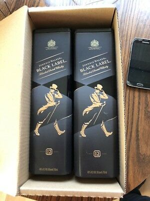 JOHNNIE WALKER BLACK LABEL EXTRA SPECIAL WHISKY TIN Boxes X 2