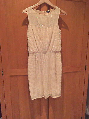 Eye Catching 1920's Style Flapper Girls Party Dress By River Island, Size 8