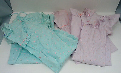 vintage nightgown robe lot 2 sets light cotton blend