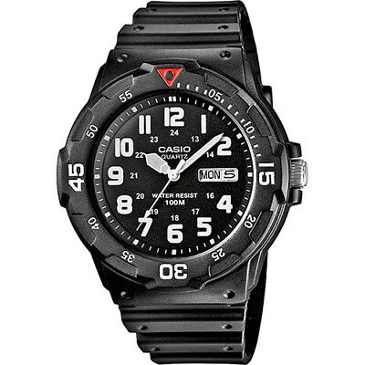 Casio MRW-200H-1BVEF Men's Sports Analogue Day/Date Watch Black Resin Strap DEAL