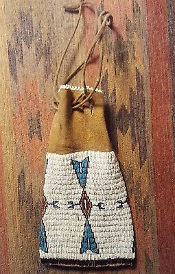 Museum Quality Native American Beaded Pouch