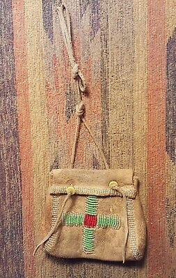 "Native American 4"" Beaded Pouch"