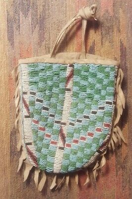 "Native American Beaded Bag 6"" x 8"""