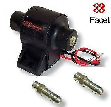 Facet Electric Solid State Fuel Pump 60104 Posi-flow 1.5- 4psi, 2x 6mm unions