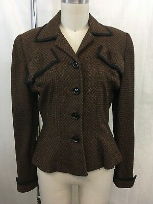 Young Charm By Scholder & Burns Vintage Brown Blazer Size S