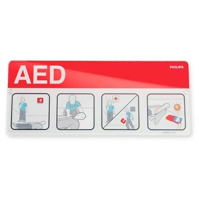 Philips #989803170901 AED WALL SIGN, Red