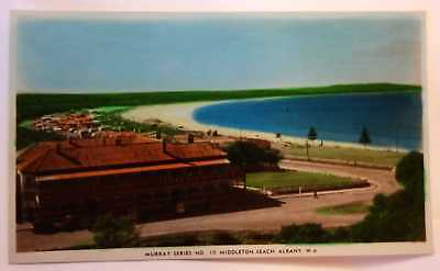 Middleton Beach POSTCARD Albany 1940s Real PC RPPC Vintage Murray Series No 19