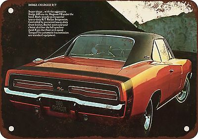 """7"""" x 10"""" Metal Sign - 1969 Dodge Charger R/T - Vintage Look Reproduction"""