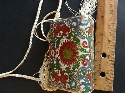 Beautiful Antique Chinese Cloisonne Inro Purse