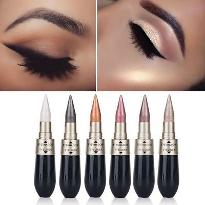 6 Colors 2 In 1 Pencil Combination Shimmer Liquid Eyeliner Eyeshadow Metallic