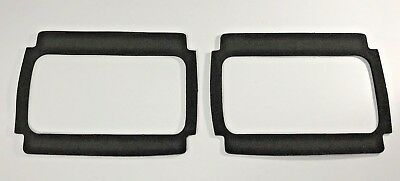 Pair Tail Light Gaskets For 1964-1966 Ford Mustang - Black Foam