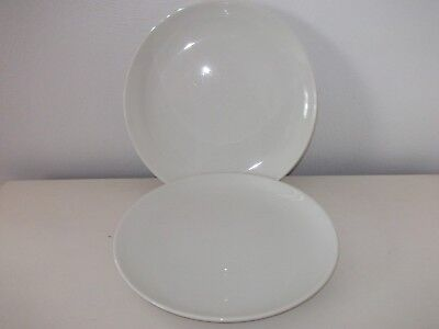 2 Vintage Russel Wright Iroquois White Dinner Plates