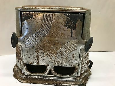 Vintage TOASTER antique Flip Flop Art Deco metal electric WORKS Rust needs clean