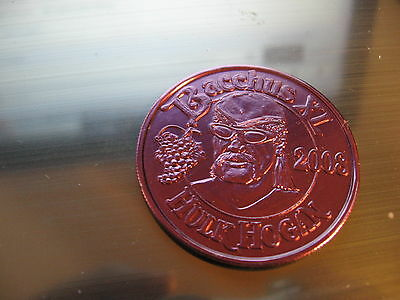 hulk hogan wwe wrestling king bacchus 2008 mardi gras doubloon new orleans coin