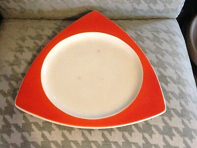 1930's Salem Tricorne mandrian orange  Art Deco large plate platter
