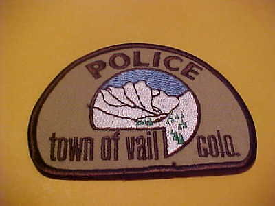 Town Of Vail Colorado Police Patch Shoulder Size New  Tan