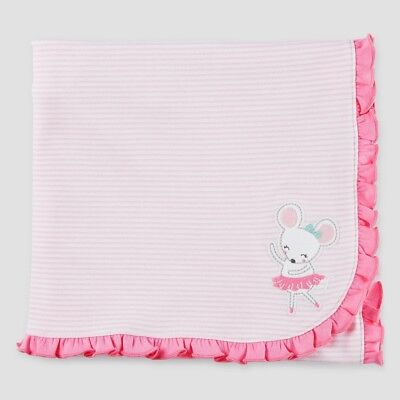 Carter's Just One You Reversible Receiving Blanket ~ Ballerina Mouse ~ Bows ~