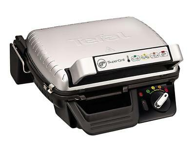 Tefal GC450B27 Super Grill, 4 Settings Including Searing, Stainless Steel