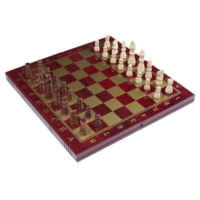 RUNNOW 3 in 1 Wooden Chess Set Checkers and Backgammon Tournament Board game...