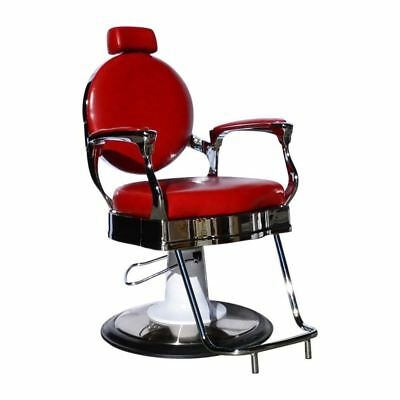 Hairdressing Salon Styling Vintage Antique Hydraulic Cutting Furniture Red Chair