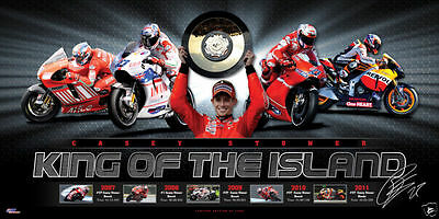 Casey Stoner Signed Limited Edition 'king Of The Island' Moto Gp Print Honda