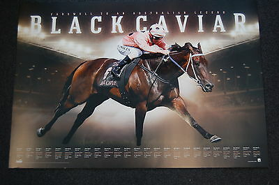 Black Caviar Farewell To A Legend Official Limited Print Moody Melbourne Cup