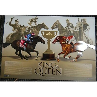 Makybe Diva & Phar Lap King And Queen Of The Turf Melbourne Cup Limited Print