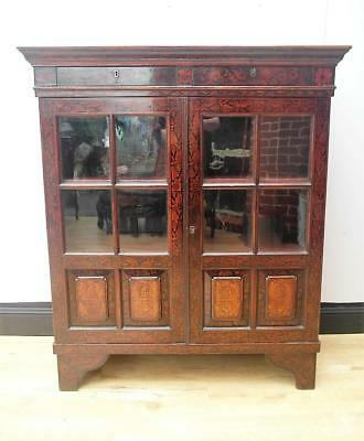 Stunning ANTIQUE Asian CHINESE Display CABINET Oriental WAVY Glass QZZQ Adelaide