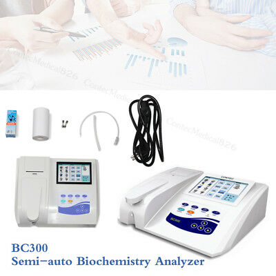 BC300 Semi-auto Biochemistry Analyzer Touch Key Printer Testing Blood & Fluid