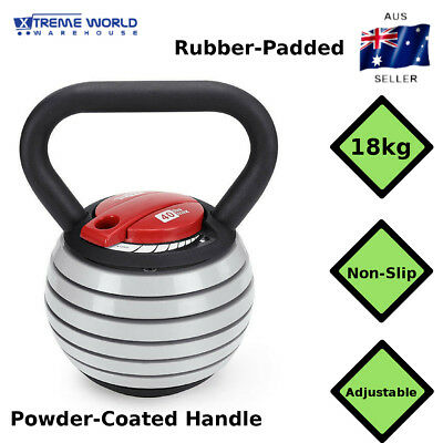 18kg Adjustable Save Space Easy To Use Kettlebell Home Gym Fitness Weight Set