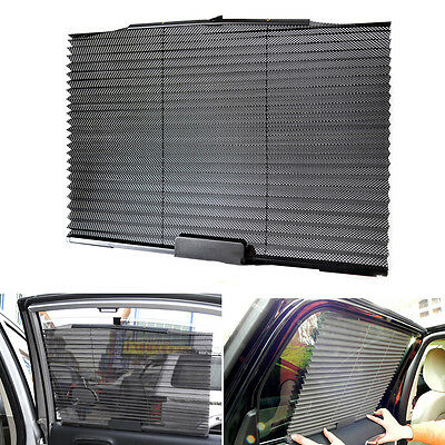 2X Car Retractable Side Window Sun Shade Block Curtain Roller Blind Baby Protect