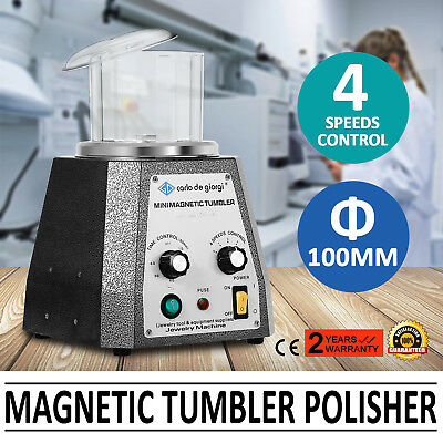100mm Tumbler MagnéTique Polisseuse de Bijoux Super Polishing Finisher Machine