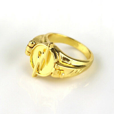 Gift Hot sale The Flash Reverse Gold Plated Cosplay Props Unisex Rings Jewellery