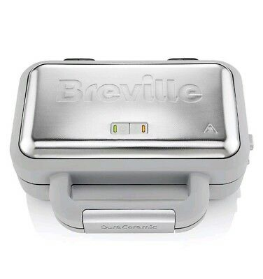 5!1T   BREVILLE VST072 Waffle Maker - Grey & Stainless Steel kitchen ware