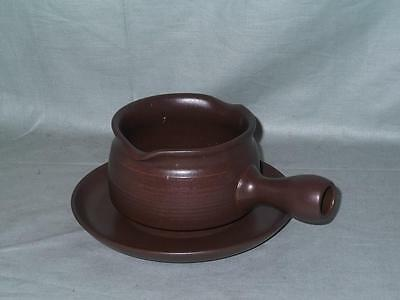 Denby/Langley Mayflower Gravy or Sauce Boat & Stand